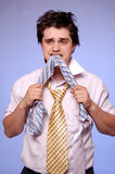 Doubting men with tie. Royalty Free Stock Photography