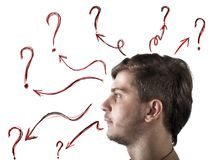 Doubts and questions royalty free stock photography