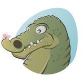 Doucement crocodile de bande dessinée illustration stock