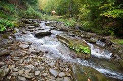 Doucement peu de fleuve paisible Photo libre de droits