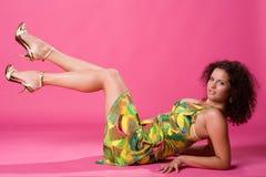 douceur colorée d'été de fille de robe Photo stock