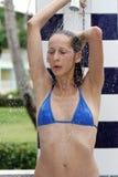 Douche au soleil Photo stock
