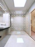 Douche avec la séparation en verre Images stock