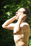 Douche d'été Photos stock