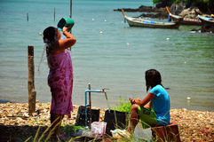 Douche de matin, Thaïlande Photographie stock libre de droits