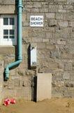 Douche de plage, Weston-Superbe-jument Images stock