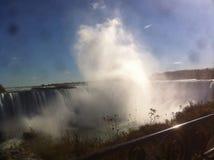Douche de vapeur de chutes du Niagara Image libre de droits