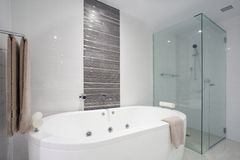 Douche et baignoire Images stock