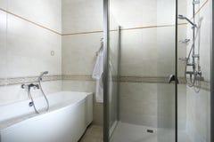 Douche et bain Photographie stock libre de droits