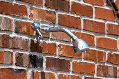 Douche extérieure Photographie stock libre de droits