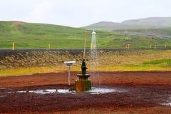 Douche extérieure près de Myvatn, Islande photos libres de droits