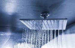 Douche moderne de plafond dans le monochrome photo stock