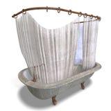 douche modifiée de rideau en bathtube Images stock