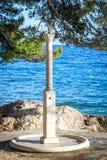 Douche op het strand Stock Fotografie