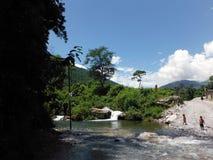 Douche rurale de Nepali en Himalaya Image stock
