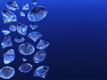 Douche van diamanten Stock Foto's