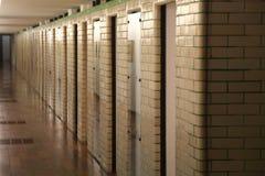 Douchecellen bij het Museum van La Piscine van Kunst en Industrie, Roubaix Frankrijk royalty-vrije stock afbeelding