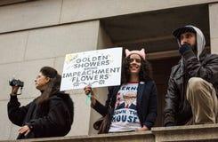 Douches d'or - Womens mars - Washington DC Photo libre de droits