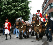 Doudou Parade in Mons, Belgien Lizenzfreies Stockbild