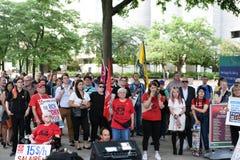 Doug Ford på meddelande samlar i Ottawa, Ontario, Kanada Royaltyfria Bilder
