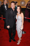 Doug Savant,Laura Leighton. LAURA LEIGHTON & DOUG SAVANT at the 12th Annual Screen Actors Guild Awards at the Shrine Auditorium, Los Angeles. January 29, 2006 Stock Photography