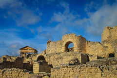 Dougga Roman City Ruins Medina, Tunisia Stock Photo