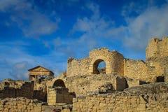 Dougga Roman City Ruins Medina, Tunisien arkivfoto