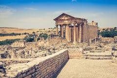 Dougga, Roman Ruins: A Unesco World Heritage Site in Tunisia Stock Image