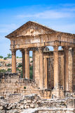 Dougga, Roman Ruins: A Unesco World Heritage Site in Tunisia Royalty Free Stock Photography