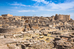 Dougga, Roman Ruins: A Unesco World Heritage Site in Tunisia Stock Photo