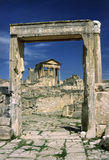 Dougga - view of the Capitole hilltop Royalty Free Stock Photos