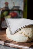 Dough. Photo of dough on wooden board Stock Photos
