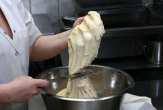 Dough in a bakery Stock Image