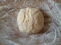 Dough for baking, top view. stock photos