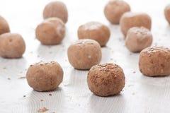 Dough balls Royalty Free Stock Images