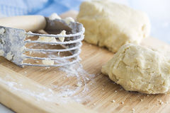 Dough and Blender Royalty Free Stock Photography