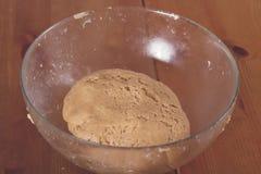 Dough in a bowl stock photos
