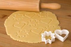 Dough for Christmas cookies royalty free stock photos