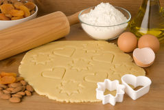 Dough for Christmas cookies stock images