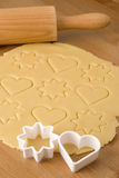 Dough for Christmas cookies Royalty Free Stock Photo
