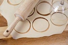 Dough circles Stock Photography