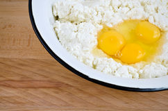 Dough for cottage cheese pie. Stock Images