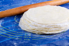 Dough discs Royalty Free Stock Images