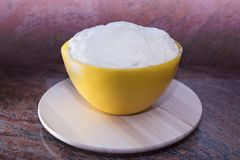 Dough for Easter bread. royalty free stock photography