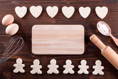 Dough for homemade cookies on the table Royalty Free Stock Image
