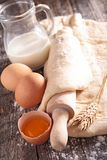 Dough and ingredient Royalty Free Stock Photos