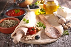 Dough and ingredient Stock Photography