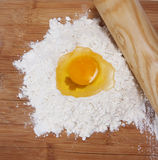 Dough ingredients stock images