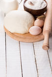Dough and ingredients for baking Stock Image