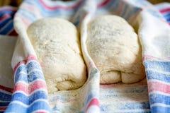 Dough for Italian ciabatta bread. Stock Photography